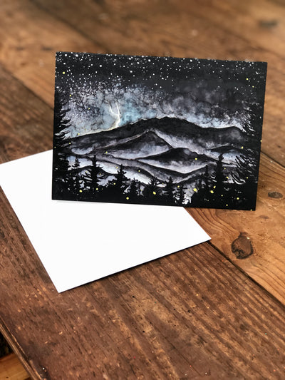 Smoky Mountains Storm at Night : Greeting Card