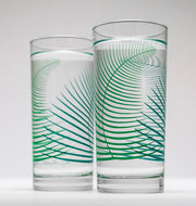Green Fern Glasses