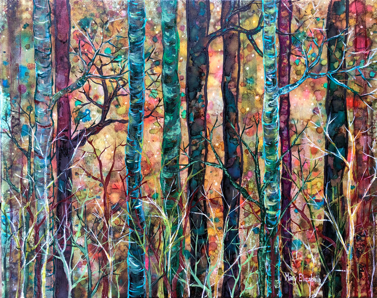 Dream Forest at Dusk : Greeting Card