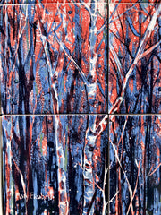 Purple Forest Ceramic Tiles - Indoor and Outdoor Use