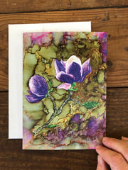 Purple Magnolia : Greeting Card