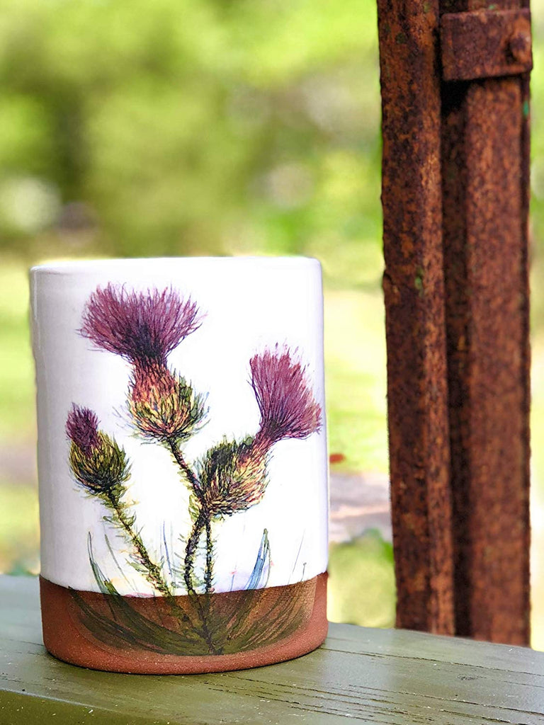 Three Thistles Handmade Pottery Tumbler Cup -- SOLD OUT