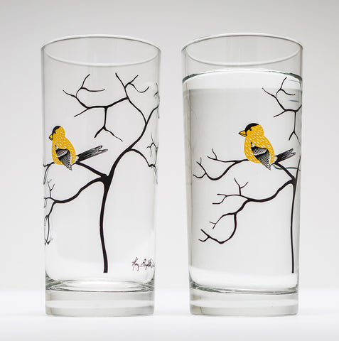 Finch Glassware - Set of 2 Everyday Drinking Glasses