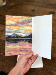 Lake Sunset : Greeting Card