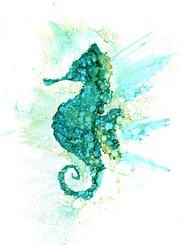 Seahorse Art Prints and Greeting Cards