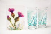 Thistle and Fern Gift Set : Card and Glasses