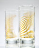 Metallic Gold Fern Glassware