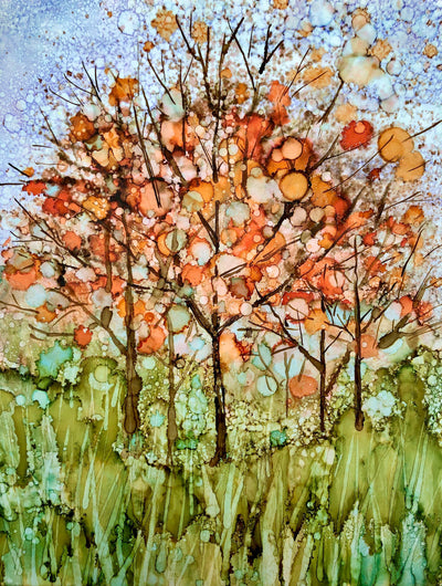 Happy Fall Trees : Greeting Card