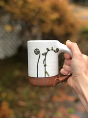 Fiddlehead Ferns Handmade Pottery Mug