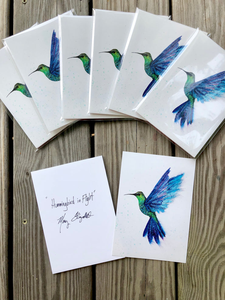 Hummingbird in Flight : Prints