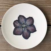 Pressed Purple Clematis Plates