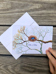 Bird Nest Wedding Card : Greeting Cards