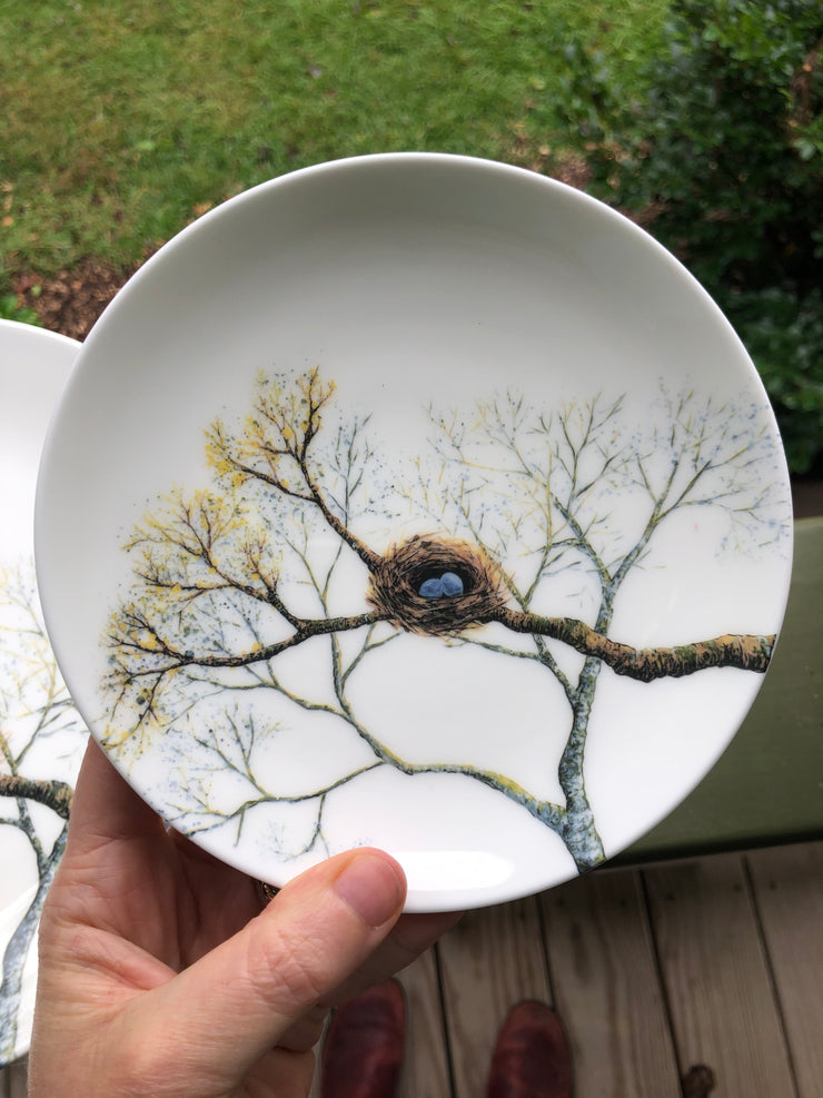 Birds Nest Porcelain Plates