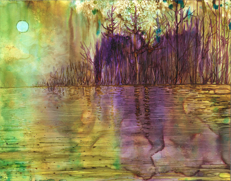 Purple Forest : Greeting Card