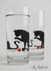 Cat and Yarn Glassware