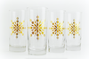 Gold Snowflake Glasses