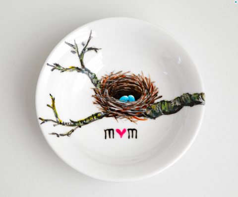 Birds Nest Jewelry Dish