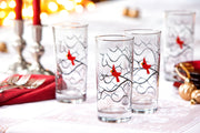 Christmas Cardinal Glasses