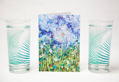 Dandelion and Fern Gift Set : Card and Glassware Collection
