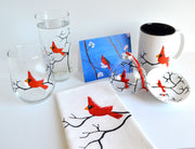 Christmas Cardinal : 7 Piece Personalized Gift Set
