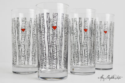 Birch Tree Glasses