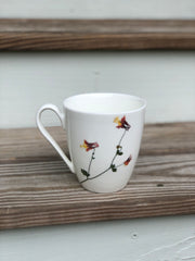 Columbine Pressed Flower Mug