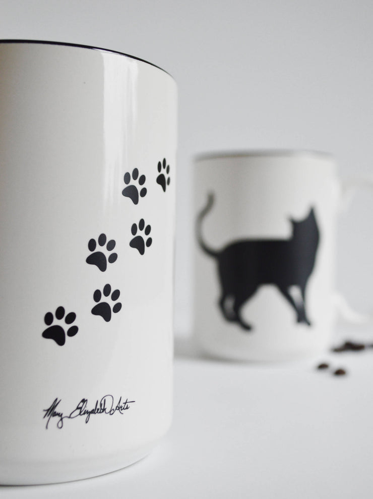 Black Cat Coffee Mug for Cat Lovers