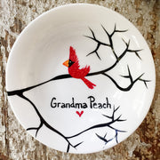 Cardinal Red Bird : Personalized Ring Dish