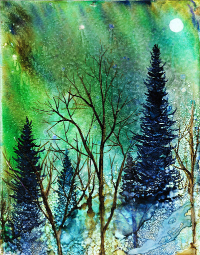 Ethereal Night Landscape : Greeting Card
