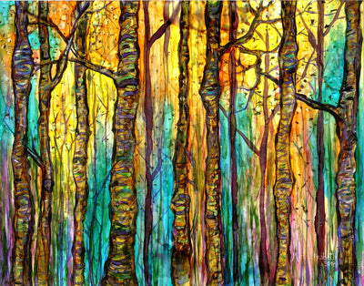 Blue Forest : Greeting Card