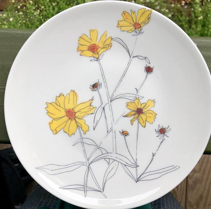 Pretty Little Weeds : Dishwasher Safe Plates
