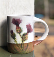 Three Thistles & Honeybee Handmade Pottery Coffee Mug