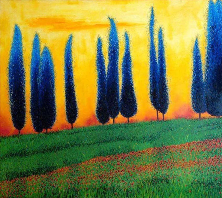 Tuscan Landscape : Greeting Card
