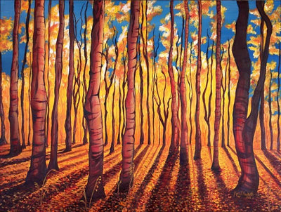 Birch Trees in Fall : Greeting Card