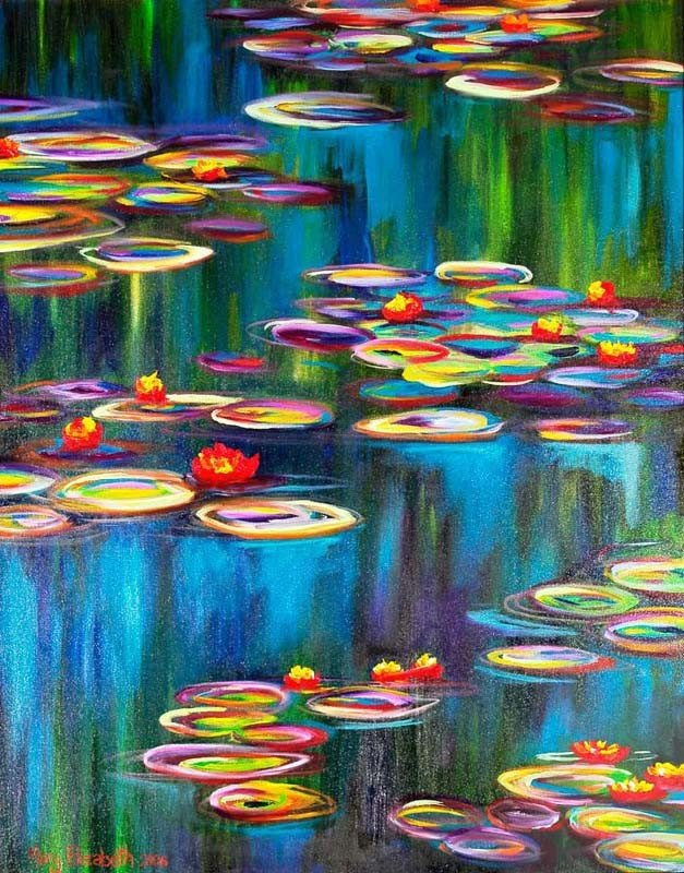 Monet's Lily Pads : Greeting Card
