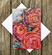 Pink Roses : Greeting Card