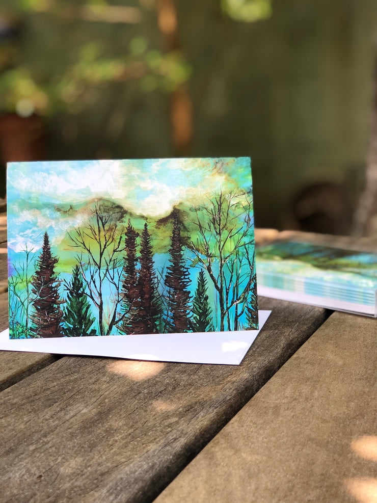 Green Sky Landscape : Prints