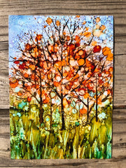 Happy Fall Trees : Prints