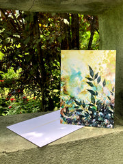 Shadow Leaves : Greeting Card