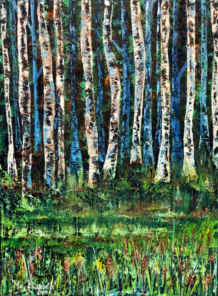 Aspen Trees : Original Painting