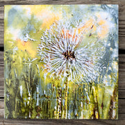 Wish Dandelion Ceramic Tile - Indoor and Outdoor Use