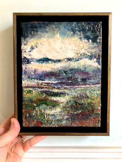 Marshlands Original Encaustic Painting