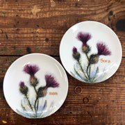 "Personalized Trinket Dish - 6"" Thistle Plate"