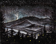 Smoky Mountains Storm at Night : Prints