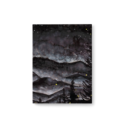 Smoky Mountain Storm at Night, Hard Cover Journal