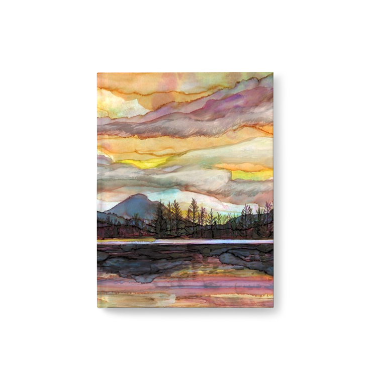 Lake Sunset, Hard Cover Journal