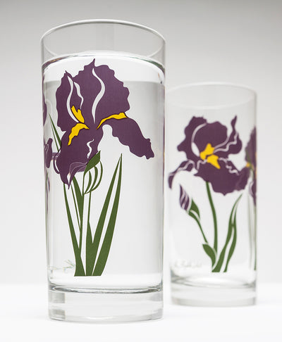 Purple Iris Drinking Glasses