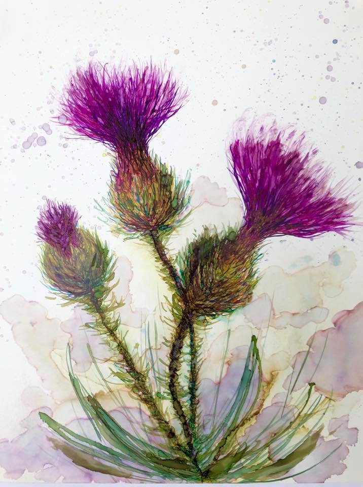 Three Thistles : Greeting Card