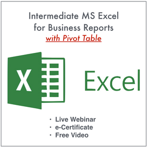 Intermediate MS Excel for Business Reports w/ Pivot Table (1/23/2021)