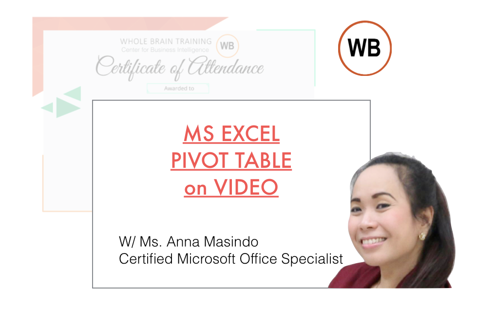 Video Webinar Series: MS EXCEL PIVOT TABLE